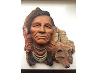 Native American wall sculputure. Neil J Rose