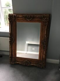 Antique Vintage Style Ornate Large Gold Mirror by Morris Mirrors