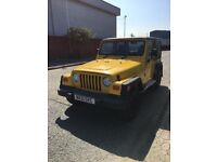2001 Jeep Wrangler 2.5 l Sport, yellow, petrol manual
