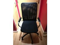 Black and silver office chair