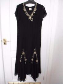 Eastex black evening dress