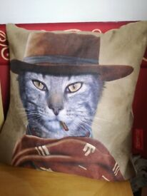 Cushion Brand new smoking cat 'Western' by Pets Rock RRP £29.99