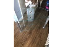 Glass - Corner TV Stand - Excellent Condition