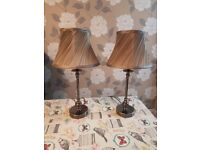 Pair of Table lamps / bedside lamps