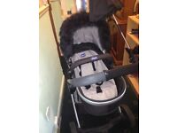 Chicco pram for sale does go into a carry cot and toddler part 6 months old £120 Ono