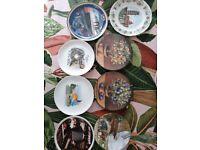 Collectable plates x 8 titanic Hollywood Canada Mediterranean