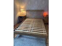 Double bed oak frame