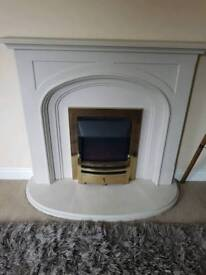 Electric fire and/or moulded fire surround