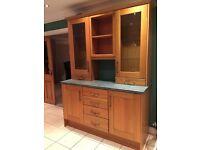 Oak finish kitchen units