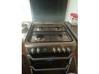 INDESIT DOUBLE OVEN GAS COOKER