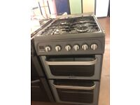 50CM SILVER HOTPOINT GAS COOKER