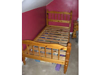 Solid Pine Single Bed Frame X 2