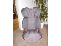 Britax Car Seat (Grey with pink spots)
