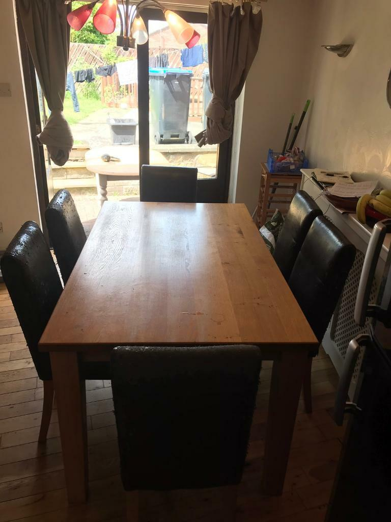 Solid Oak Lacquer Dining Table And Chairs In Westbury Wiltshire Gumtree