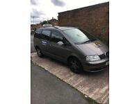 SEAT ALHAMBRA SHARAN 2.0 SE TDI 60 REG NEW ENGINE NEW CAMBELT 6 MONTHS DUDLEY TAXI PLATE 7 SEATER