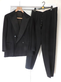 Vintage 1930's G. Ward & Co Black Tie Dinner Jacket & Trousers