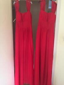 Red long length Bridesmaid dresses