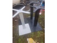 Square cast iron table base x3 only black ones left.