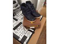 blue waterproof boots