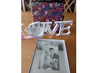 Scrapbook/photo album and 2 photo frames.....ideal for a wedding present!!