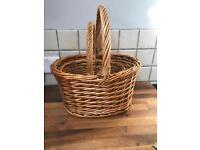 Pair of Wicker Shopper Style Baskets