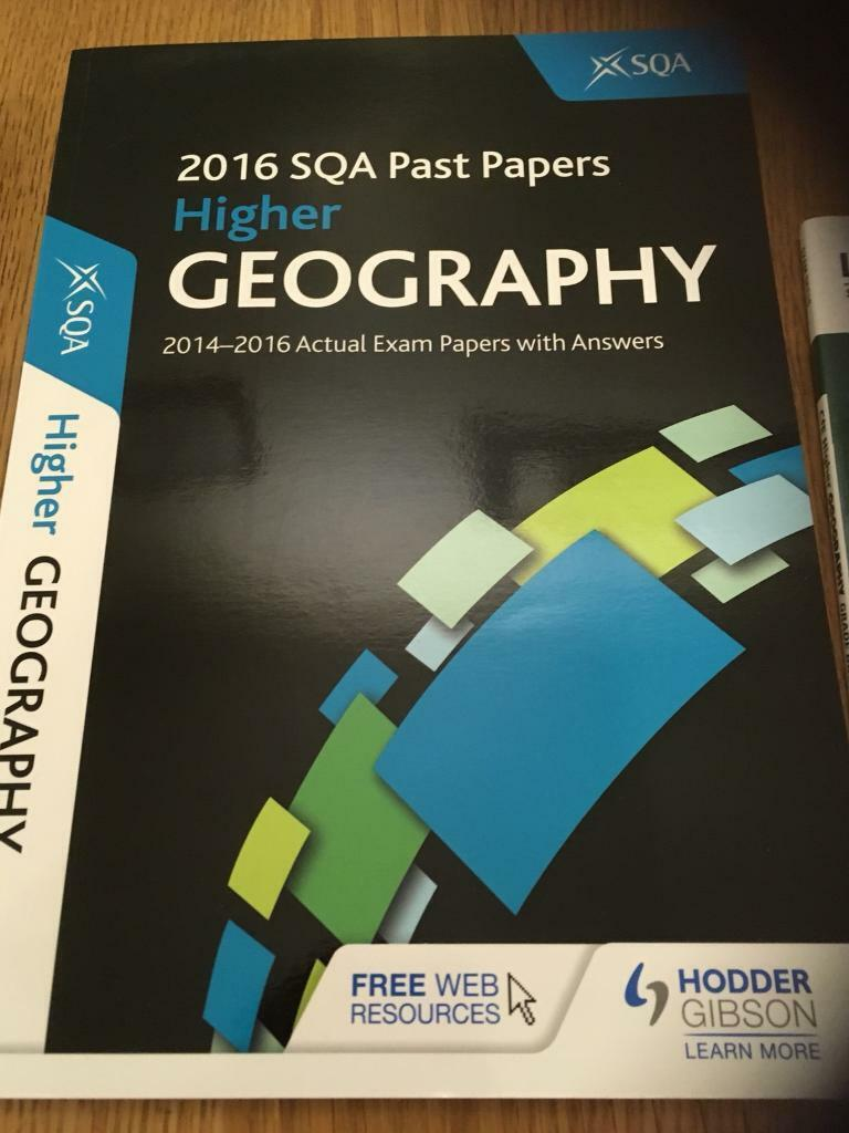 Higher geography past papers and study booster | in Aberdeen | Gumtree