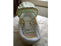 Mothercare Moses Basket Circus Elephant