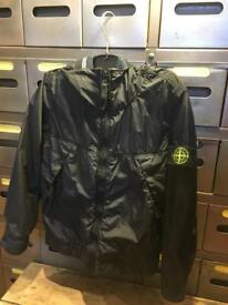 Stone island black coat jacket genuine age 6