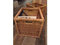 Ikea rattan storage baskets