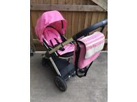 Oyster pushchair with colour pack accessories