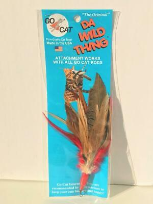 NEW Da Bird Da Wild Thing Refill Attachment Multi Feather Cat Toy by Go Cat