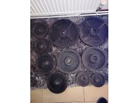 "67.5kg of Cast Iron Olympic Weights 2""hole (bench, press, squat, rack, gym, barbell dumbell)"