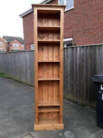 Tall Slim Pine Bookcase