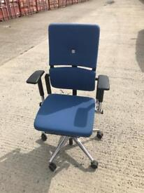 Steelcase Please V2 Blue Chrome Office Chairs