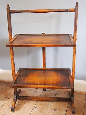 Beautiful Antique Edwardian Folding 2 Tier Cake Stand/Tea Table Tea Party etc