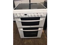 Indesit KD6C35W 60cm Double Electric Cooker in White #3808