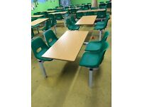 Ex cafe stock 4 and 6 seater tables and chairs available
