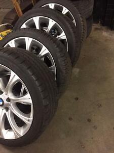 4 TIRES AND RIMS: Dunlop Sp Winter Sport 3D 235/40/R18 BMW Rims 18inch
