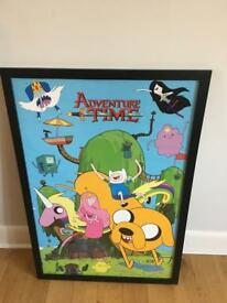 adventure time posters with frame