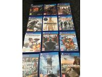 PS4 slim 1tb console and games