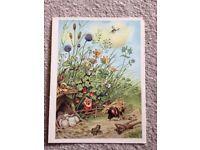 Vintage german postcard for children Snow White and the Seven Dwarfs 3