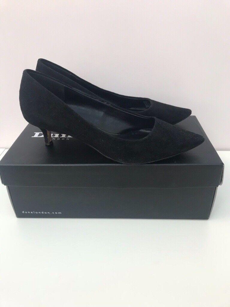 Dune - Annielou Suede Kitten Heel Shoes - Size: 36 (UK 3)