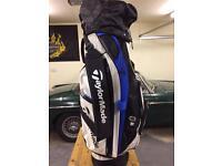 TaylorMade golf bag.