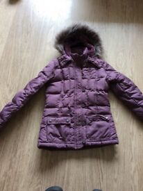 Women's FEather and Down Coat Jacket size 8