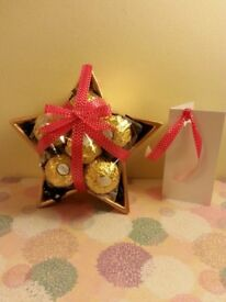 Chocolate Star Dish / Handmade Gift / Assorted Chocolate / Place Card