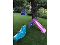 Little Tikes slide, swing and rocking whale