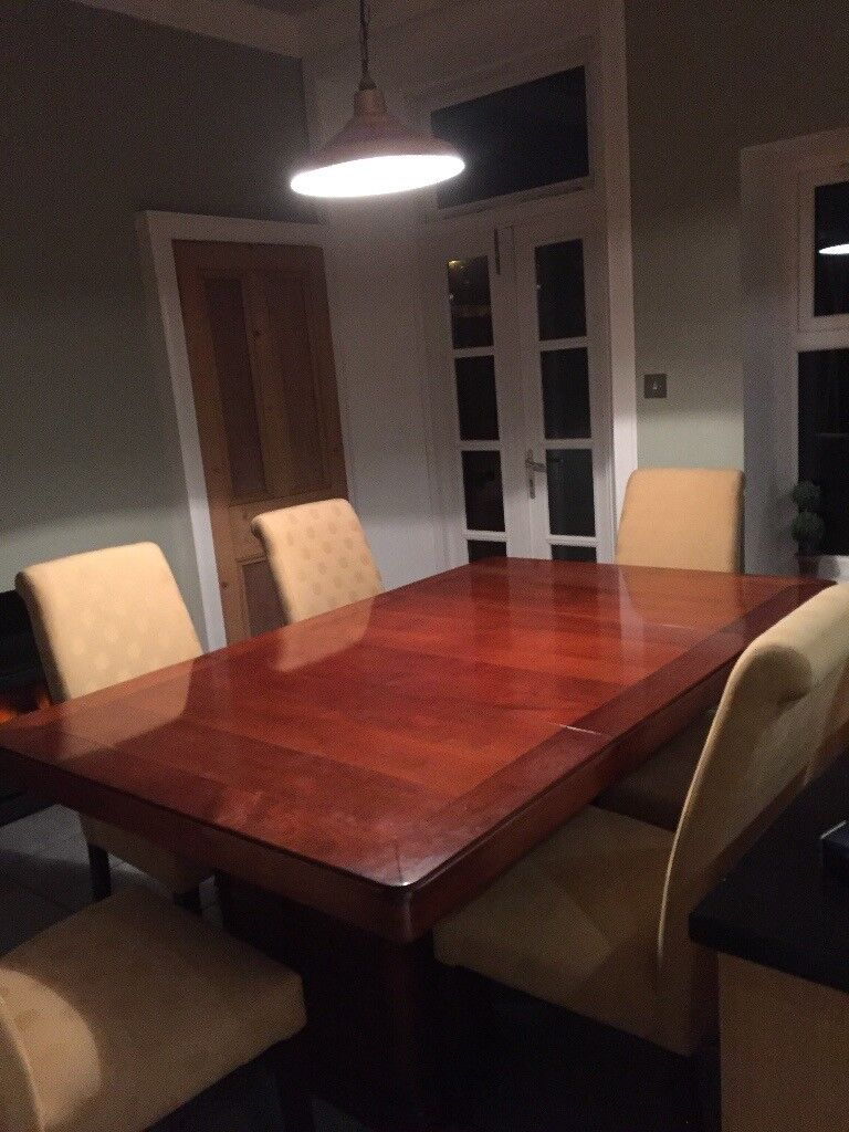 Shapes Cherry Wood Dining Table And Chairs For Sale
