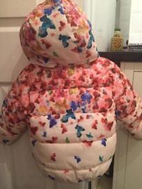 Girls floral puffer coat