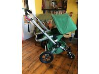 Bugaboo Gecko. Carrycot, Apron, Seat, Raincover, Spare Hood, Underseat Bag, Manual. Finsbury Park