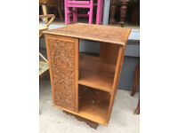 Eastern Carved Hardwood Revolving Bookcase In good condition size W 16 in D 16 in H 26 in